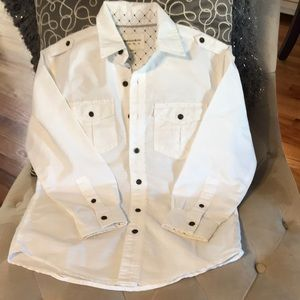 Size 8 white button down like new